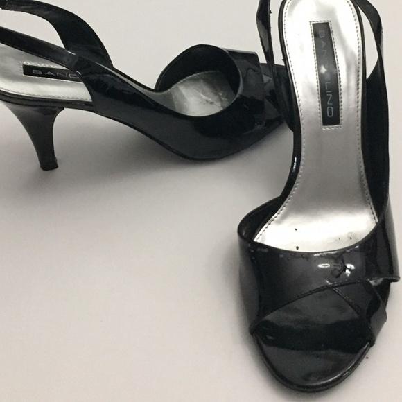 Bandolino Shoes - black patent heel